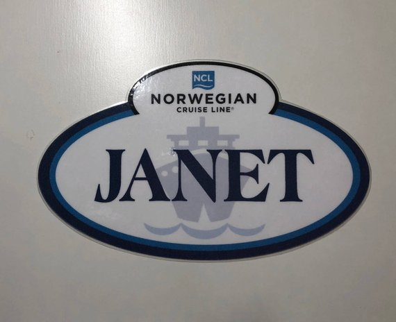 Norwegian NCL Cruise Line Custom Door Magnet Decorations – Name Tag Magnets